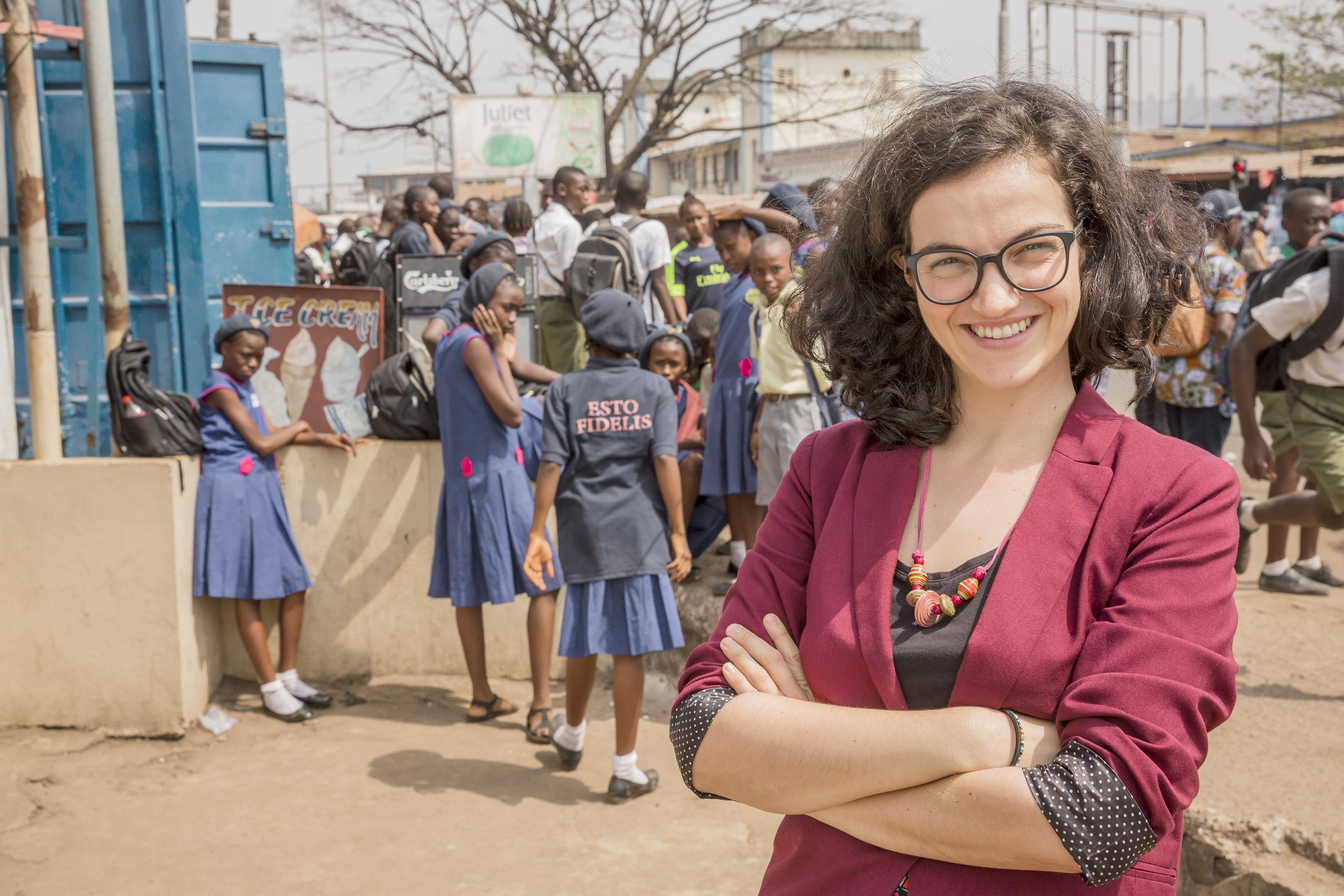 19.01.2018 : Freetown (Sierra Leone): Noemi Schramm.
